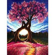 Новейшая Алмазная картина вышивка крестиком Любовное дерево