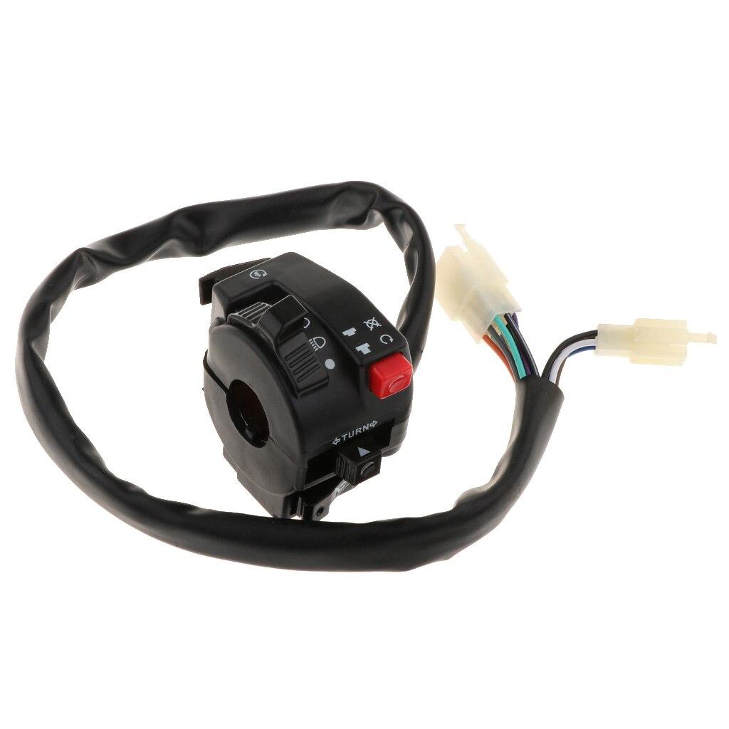 Buzina de luz de torneamento, botão de interruptor de buzina para pit quad dirt bike atv
