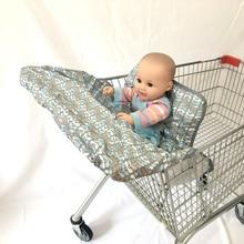 2-в-1 покрывало для магазиннной тележки и высокой чехлы на стулья, чехлы на Универсальный Fit, с страховочные ремни можно стирать в машине