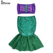 ImCute 2020 Children Brand Clothing Girls Swim Sets Mermaid Swimwear Bathing Suit 2-7 Years Kids Baby Girls Fish Scales Swimsuit