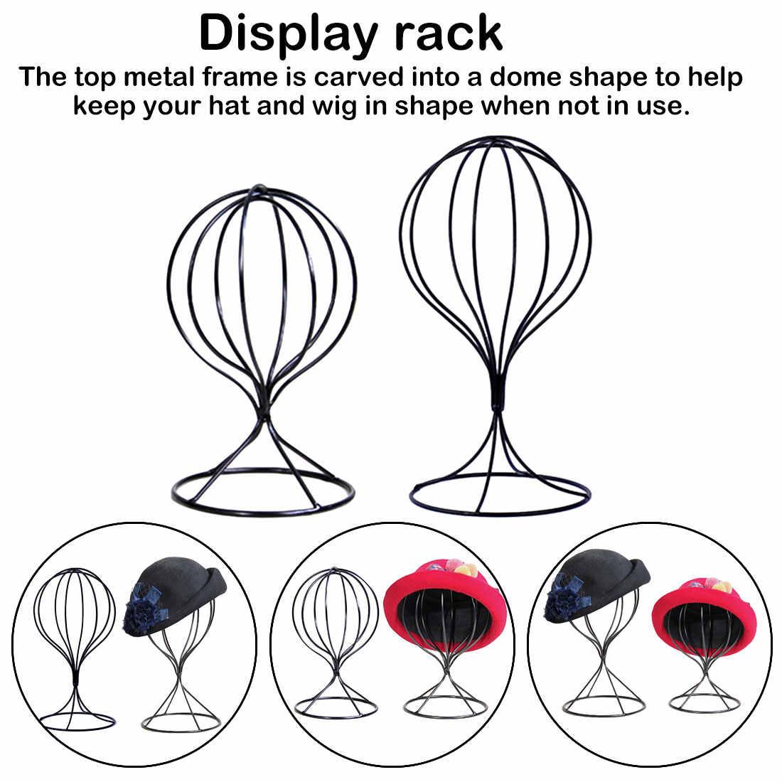 Içi boş balon Metal peruk postiş standı masa dekoratif şapka kap tutucu yeni Metal peruk çerçeve kafa kalıp ekran standı