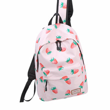 Backpack Women's Korean-style Stylish Fashion Printed Backpack Middle School Students Campus Waterproof Cloth Middle campus backpack