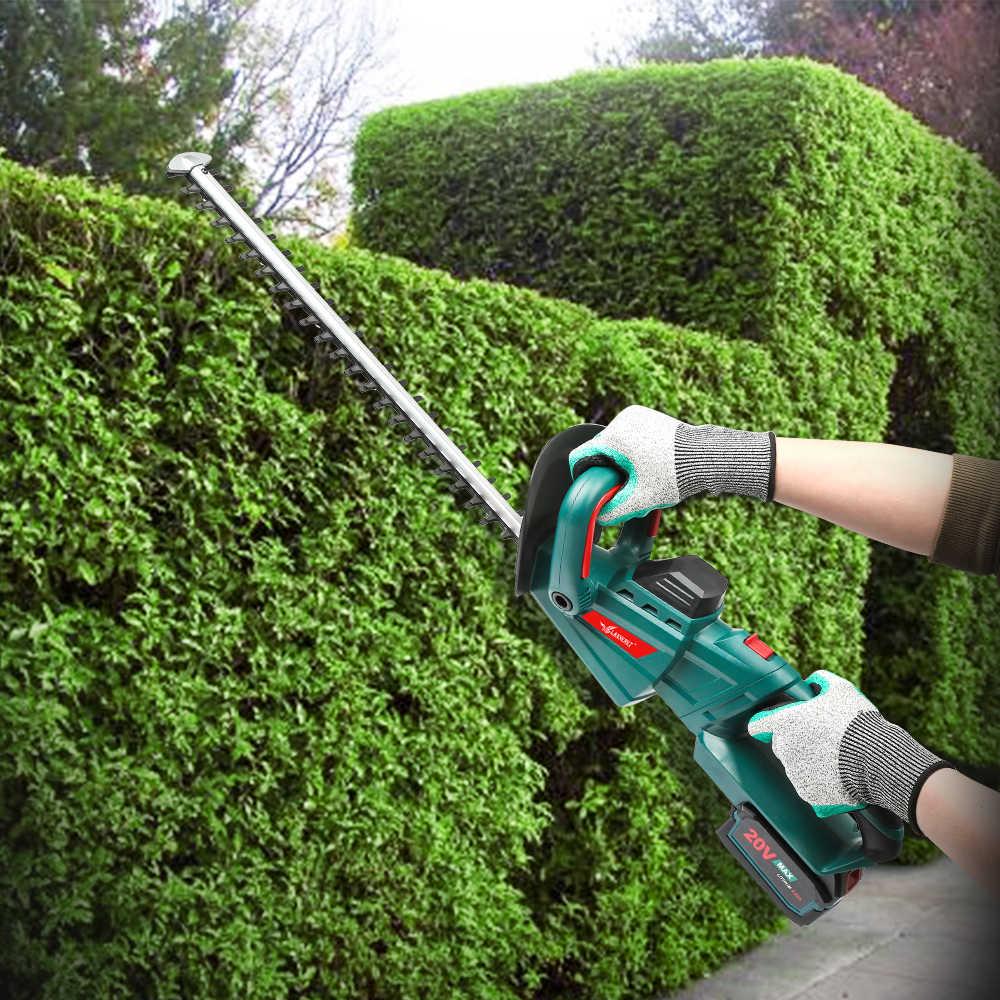 Электрический триммер для живой изгороди, беспроводные ножницы для обрезки, 20 в, Ач, перезаряжаемая садовая косилка для живой изгороди, садовые инструменты