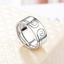 Kelley high quality 925 sterling silver couple ring Chinese style ladies mens rose gold fashion jewelry Valentines Day gift