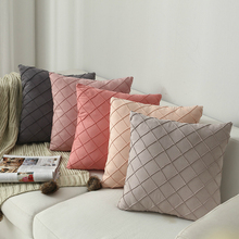 Household Supplies Modern Simple Nordic Pillow Cover Suede Check Luxury Cushion