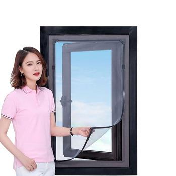 Moskitiery dostosowane ekrany niewidoczne ekrany zasłony strona główna samoprzylepne okna magnetyczna siatka na komary drzwi netto tanie i dobre opinie Okno Drzwi i okna ekrany Magnetyczne Zapięcie Włókno poliestrowe Window Door Window Screens Magnetic Fastener insect window net