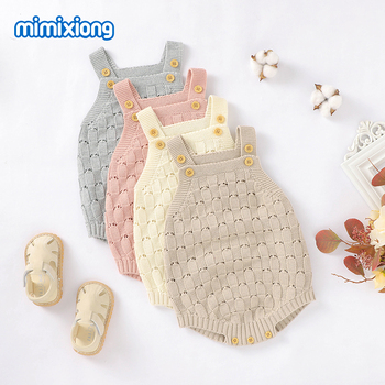Baby Bodysuits Clothes Fashion Solid Knitted Newborn Bebes Body Suits Tops for Infant Boys Girls Jumpsuits Outfit One Piece Wear