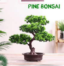 Simulation The Pine Greeting Guests Bonsai Tree Artificial Plant  Arrangement Indoor living room tabletop decoration