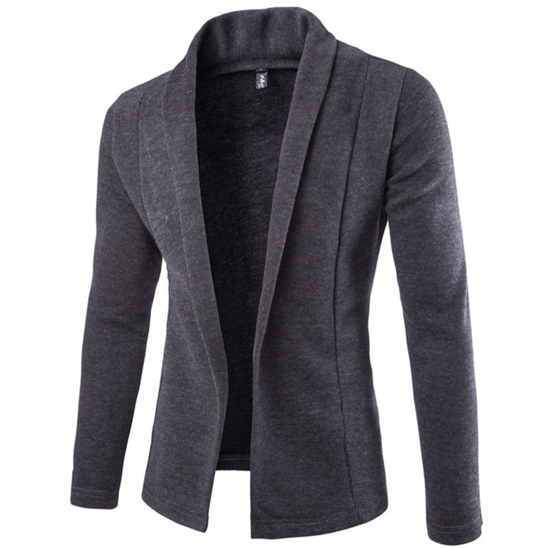 Autumn Winter Knitting Cardigan Men's Casual Long Sleeve Slim Fit Jackets Male Stylish Open Stitch Sweater Coat Outwear