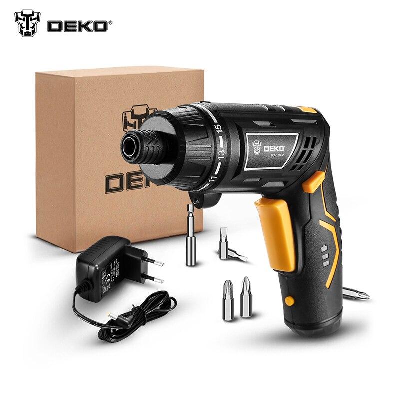 Electric screwdriver DEKO ORG3.6DKB Electric screwdriver drilling machine multi-function wireless
