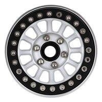 "INJORA CNC Aluminum 1.9"" Beadlock Wheel Rim for 1/10 RC Crawler Car Traxxas TRX-4 Axial SCX10 90046 AXI03007 Upgrade Parts 4"