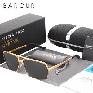 Image 3 - BARCUR alüminyum polarize erkek güneş gözlüğü ayna güneş gözlüğü kare gözlüğü gözlük aksesuarları erkekler veya kadınlar için kadın
