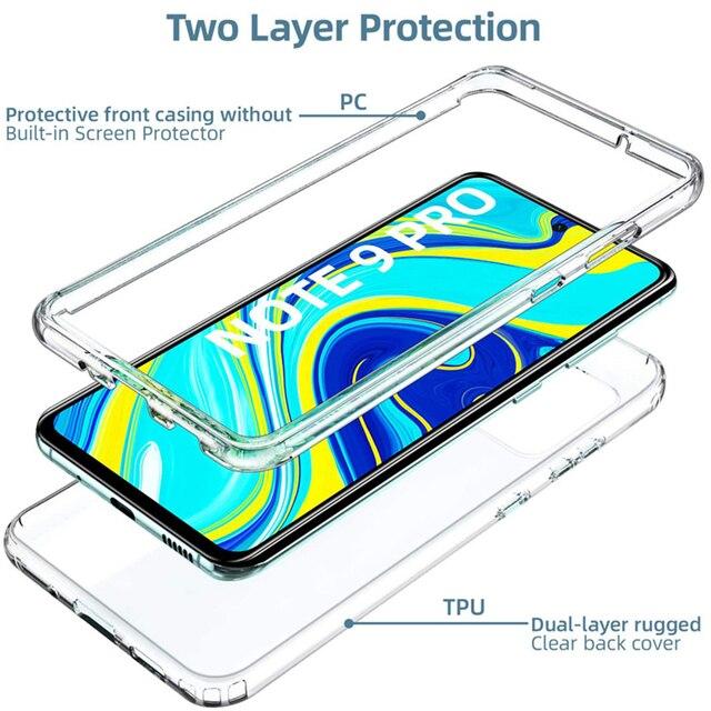 360 Degree Phone Case For Xiaomi Redmi Note 10 9S 9 Pro Max 5G 9A 9C 8 8 8A 8T 9T 7A 5A 5 Plus 6A 6 7 Full Body 2IN1Clear Cover 4