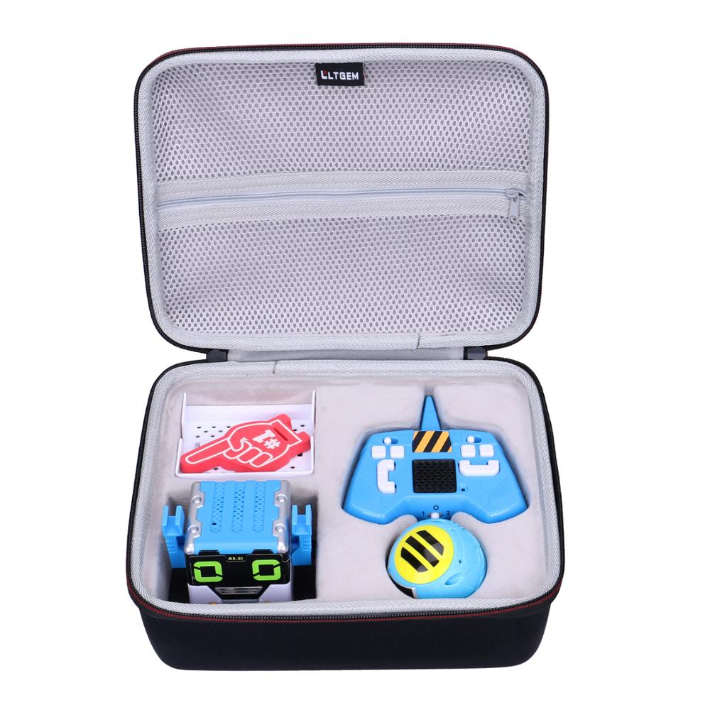 LTGEM EVA Black Waterproof Carrying Hard Case For Mibro Really Red Robots Interactive Remote Control Robot