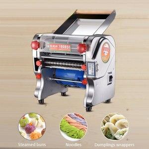 Image 2 - Elettrico in acciaio inox macchina della tagliatella tagliatella Gnocco Pasta Maker Dough Cutter macchina della pelle gnocco noodle premere 220V SPINA di UE