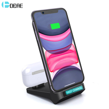 DCAE 15W Qi Wireless Charger Stand for iPhone 11 Pro 8 X XS Max XR Airpods Dual 2 in 1 Fast Charging For Samsung S20 S10 S9 Plus