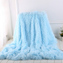 Simanfei Woolen Blankets Solid Color Double Layer Thick Winter Soft Warm Plush Throw Blanket For Sofa and Bed Bedroom Decoration