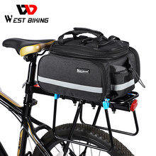 WEST BIKING Bicycle Bags Large Capacity Waterproof Cycling Bag Mountain Bike Saddle Rack Trunk Bags Luggage Carrier Bike Bag