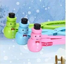 Couleur bonhomme de neige boule de neige fabricant neige guerre boule de neige combat jouets hiver en plein air Interaction Parent-enfant jouer accessoires jouet sport