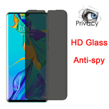 Screen Protector for Huawei Y5 2019 Tempered Glass for Huawei Y7 Y6 Pro Anti-spy Protective Glass for Huawei Y9 Prime 2019(China)