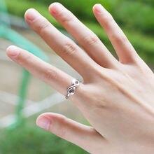Женское модное простое кольцо 8 Бесконечности посеребренное