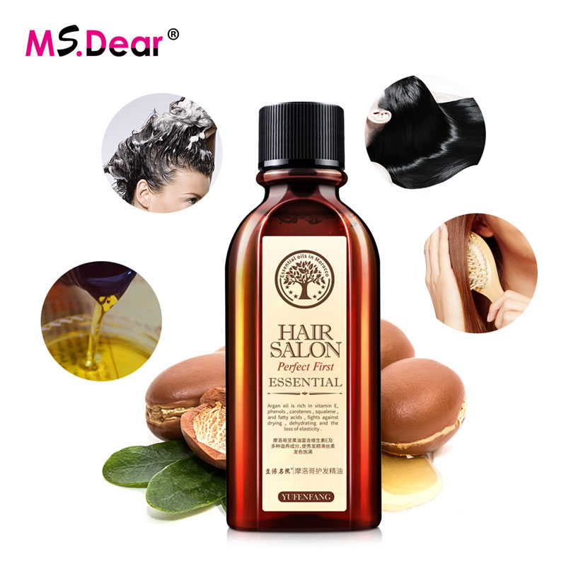 60ml Morocco Hair Care Essential Oil Pure Argan Oil Nourish Scalp Repair Dry Damaged Hair Treatment Smooth Glycerol Hairdressing