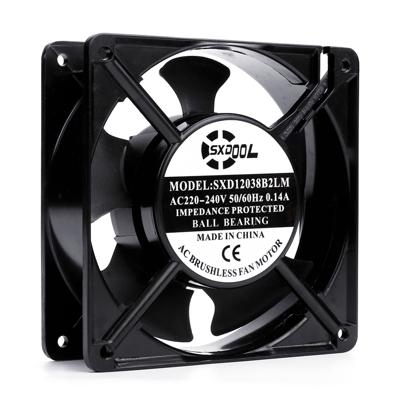 IP68 Waterproof New AC 220V Speed Regulation Double Ball Durable 12CM Cabinet Cabinet Cooling Fan 12038 Silence