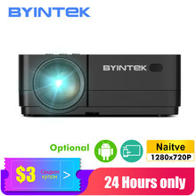 70% BYINTEK K7 proyector Android inteligente LED Wifi Mini portátil de vídeo HD para Iphone Ipad Smartphone Tablet juego 1080 cine en casa(China)