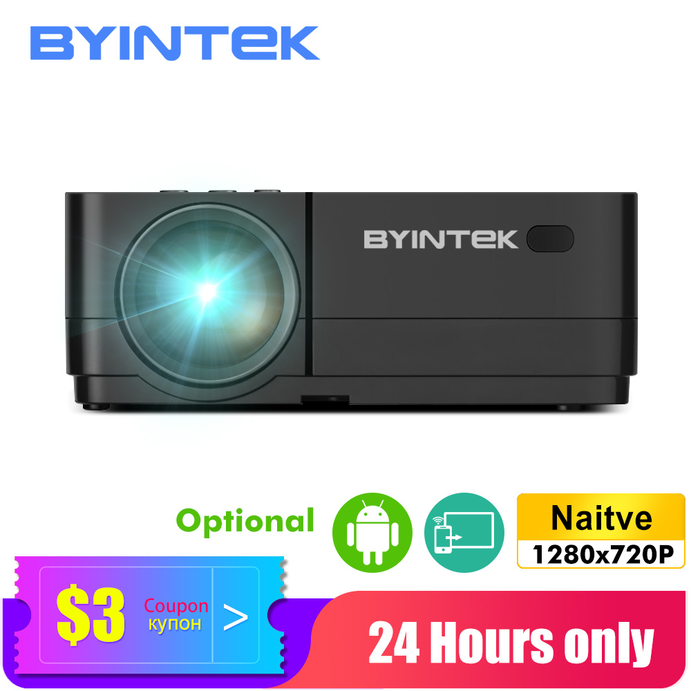 BYINTEK K7 Android Projector,Smart Wifi LED Mini Portable Video HD For Iphone Ipad Smartphone Tablet Game 1080P Home Theater