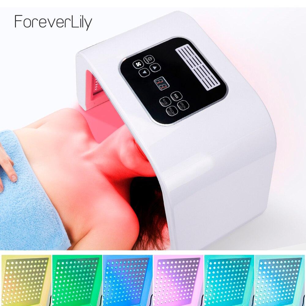 7 colores PDF Led de terapia de luz LED máscara de rejuvenecimiento de la piel Dispositivo de fotón Spa removedor de acné Anti arrugas Led rojo el tratamiento de la luz-in Herramientas de cuidado de la piel para la cara from Belleza y salud    1