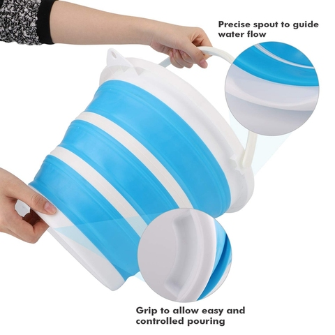 10l balde silicone para pesca