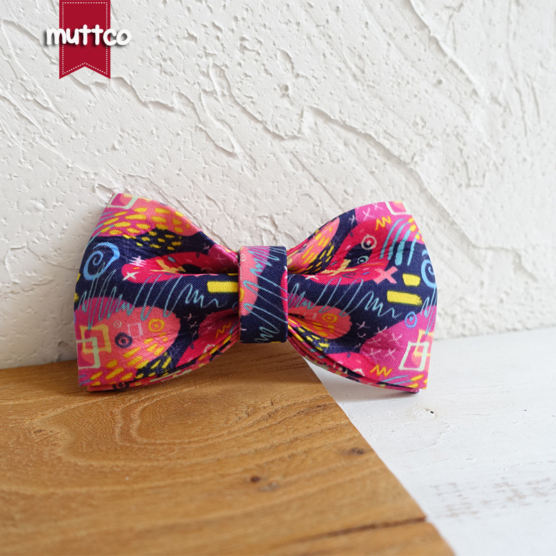 Muttco Europe And America Fashion High-End Pet Tie Dog Neck Ring Bow Tie Bow Ubt-062