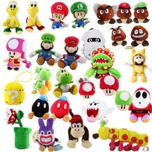 Супер Марио Йоши Гумба застенчивый парень Toadette Diddy Kong бомба Пиранья гриб Nabbit Koopa черепаха гусеница осьминог плюшевые игрушки