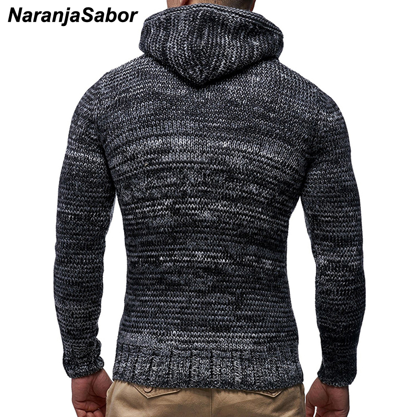 NaranjaSabor New Men's Hoodie 2020 Winter Men Warm Hooded Knitted Fashion Pullovers Sweatshirt Male Casual Brand Clothing N632 3