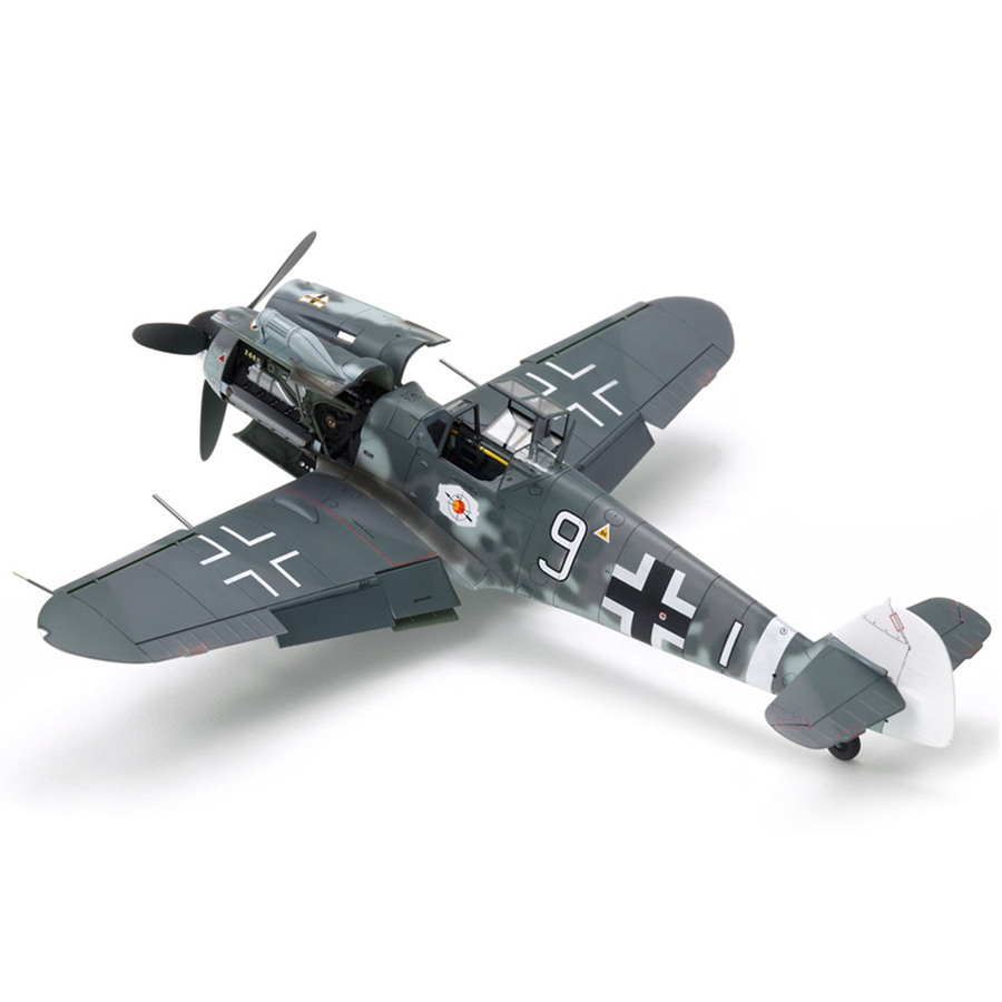 Tamiya 61117 Airplane Model Building Kits 1:48 Scale Messerschmitt Bf109 G-6 Fighter Assembly Toys For Kids Children & Adults