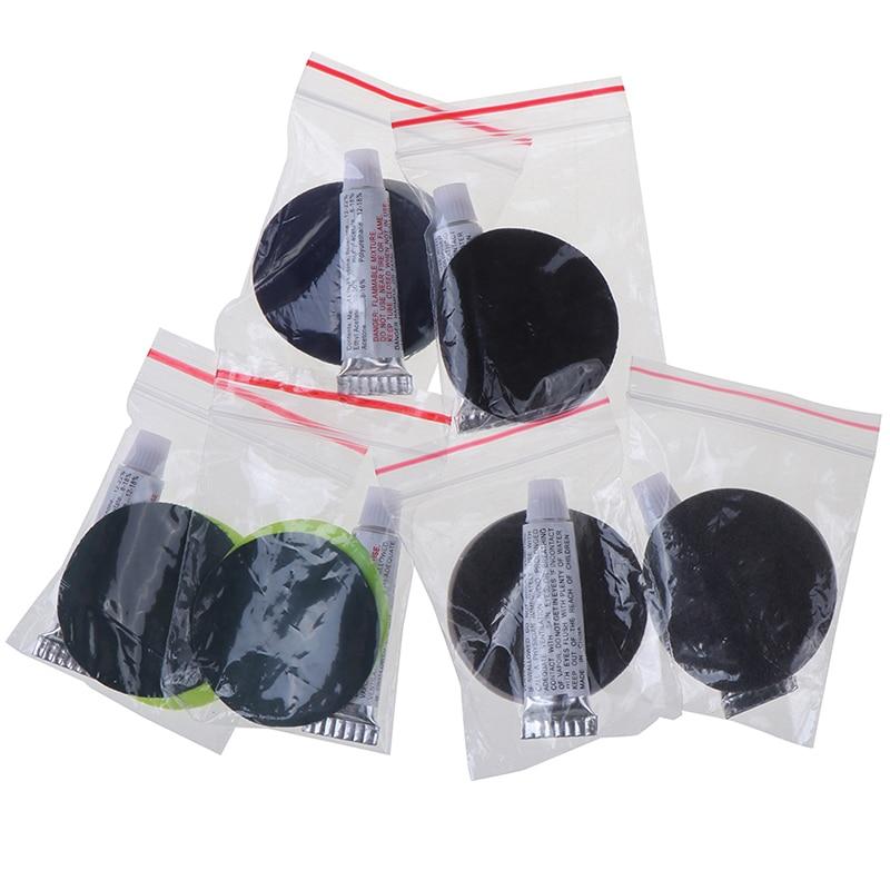 2 Set PVC Inflating Air Bed Boat Sofa Repair Perfect Seal 4Patches 2Glues Kit For Air Mattress Self-inflating Mat Repair