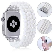 Strap 38mm Watch-Band Bracelet Elastic for 5/4/3-/.. Handmade Beads Jewelry Lureen 42mm