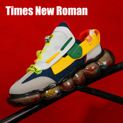 Times New Roman Fashion Bubble Sole Breathable Men Chunky Sneakers 2020 Autumn Spring Height Increasing Adult Men Casual Shoes