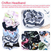 New 1PC Elasticity Headband Scrunchie Women Girls High Elastic Band Seamless Fabric Hair Ring Accessories