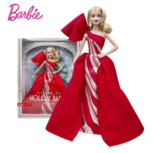 Original Barbie Holiday Doll Joints Move Fashion Street Style 25th Anniversary Girl Toy Birthday Present Girl Toys Gift Boneca barbie original brand holiday ethnic collectible barbie doll princess toy girl birthday present girl toys gift boneca drd25