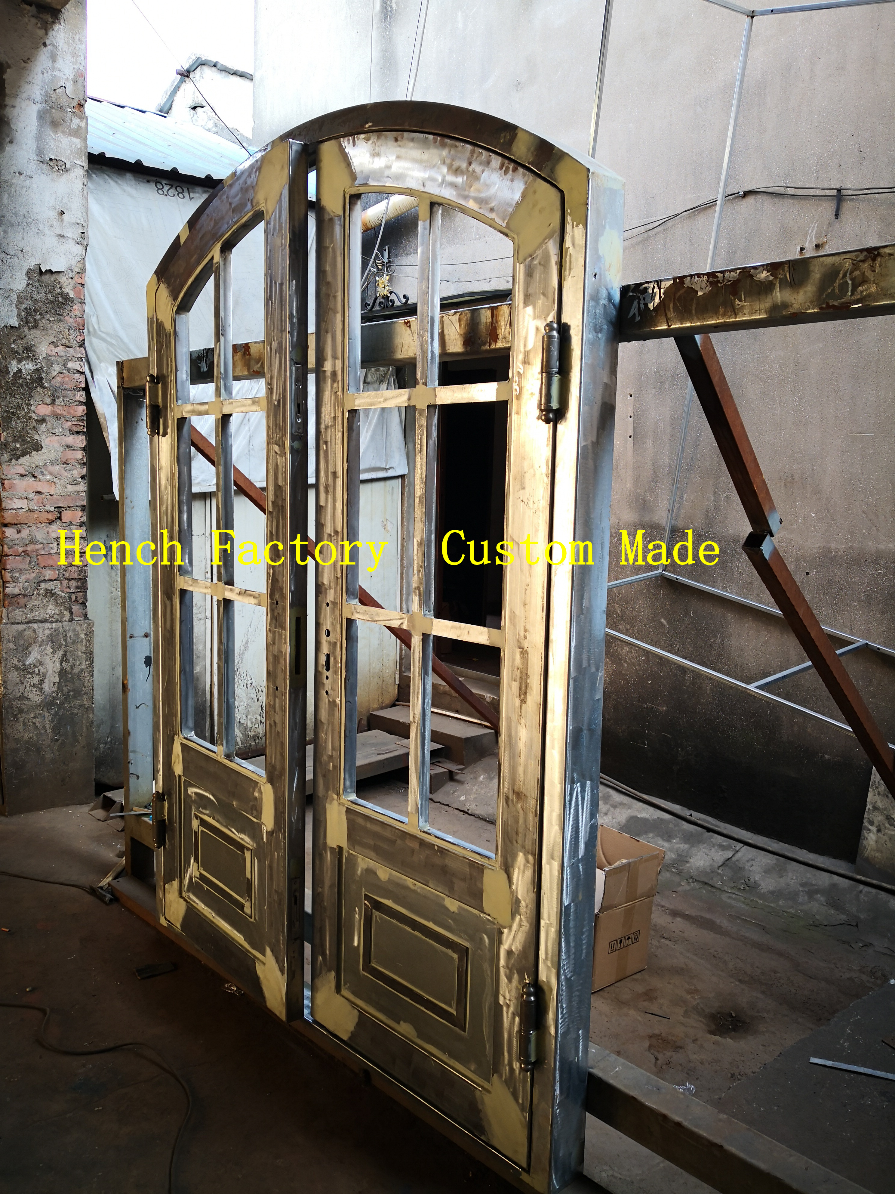 Shanghai Hench Brand China Factory 100% Custom Made Sale Australia Ornamental Iron Security Doors