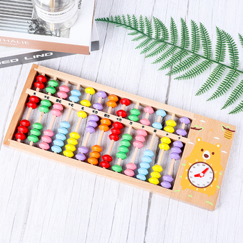 Beech 13 abacus wooden abacus primary school children learn mathematics teaching aids Wood educational toys chinese abacus