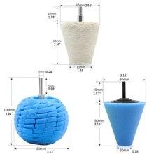 Polishing Wheel Waxing Cone Sponge-Pads Buffing New Car Ball-Hub Beauty