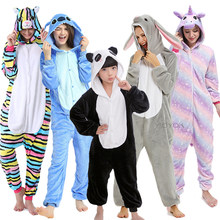 Kids Kigurumi Unicorn Pajamas For Children Animal Cartoon Blanket Sleepers Baby Costume Winter 2020 New Boy Girl Licorne Onesie(China)