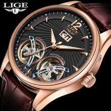Reloj LIGE Double Tourbillon Switzerland men Watches