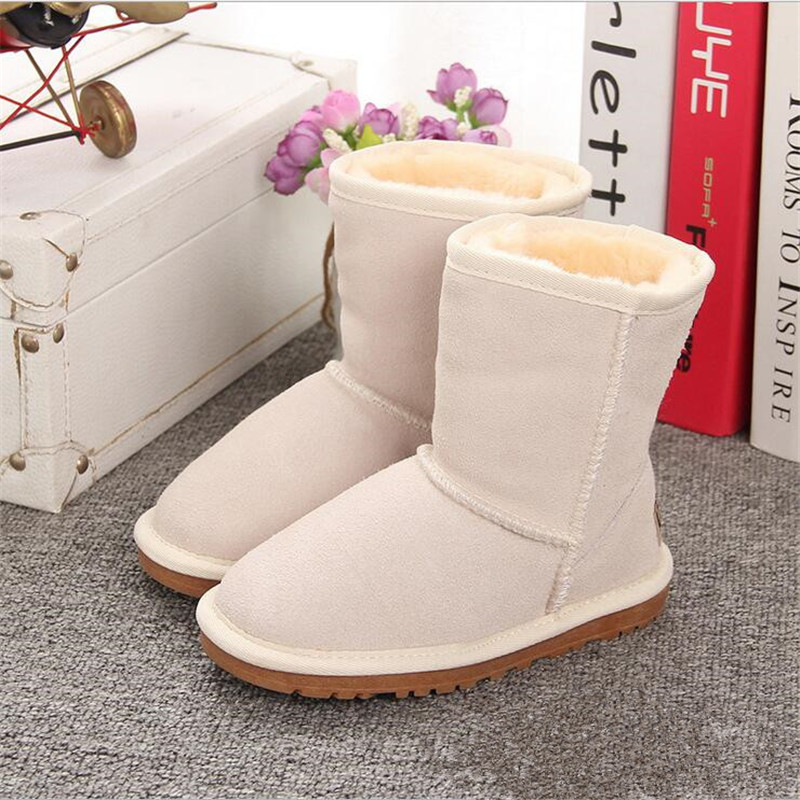 New Children Boots Australia Waterproof Girls Boys Snow Boots Baby Winter Boot Fur Warm Boots For Kids Size 21-35