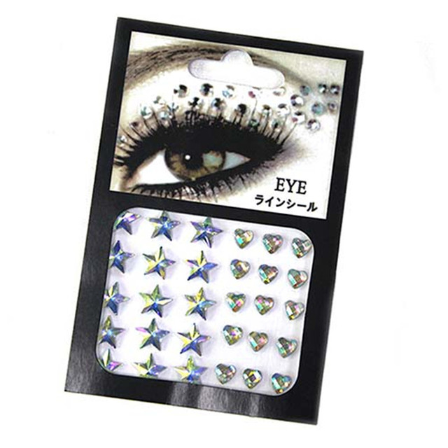 Rhinestone festival Face jewels sticker Fake Tattoo Stickers Body Glitter Tattoos Gems Flash for Music Festival Party Makeup 1