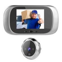 2.8 인치 비디오 peephole 디지털 도어 카메라 초인종 90도 각도 구멍 뷰어 비디오 아이 도어 초인종 야외 도어 벨