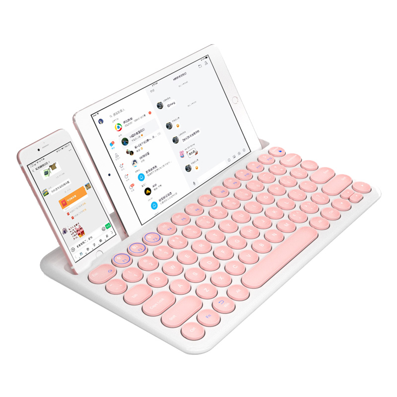 Portable Wireless Bluetooth Keyboard For iPad Tablet iPhone Macbook Rechargeable Mini Silent Keypad For IOS Windows
