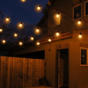 Image 5 - 25Ft G40 Bulb Waterproof String Lights with 25 Clear Bulb Backyard Patio Lights Vintage Bulbs Decorative Outdoor Garland Wedding